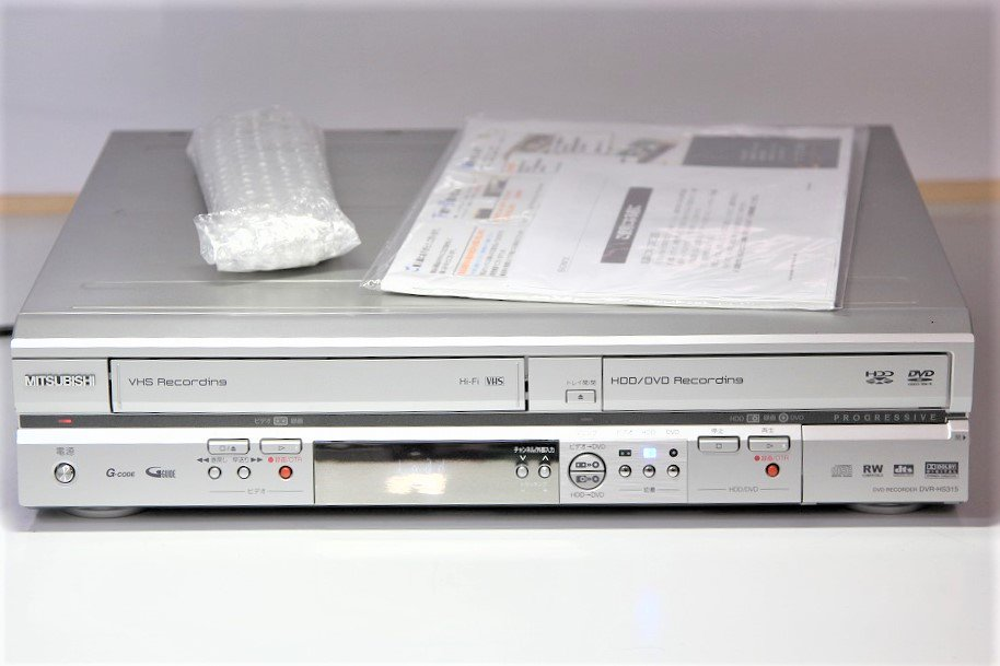 MITSUBISHI ビデオ一体型HDD&DVDレコーダー 160GB DVR-HS315【中古品】