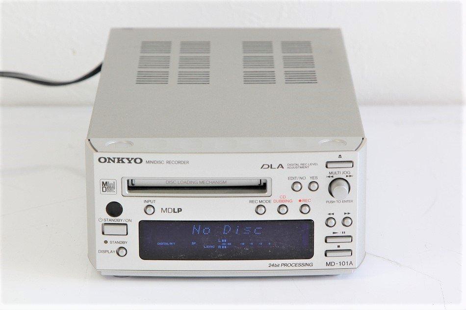 ONKYO INTEC155 MDデッキ シルバー MD-101A(S)【中古品】