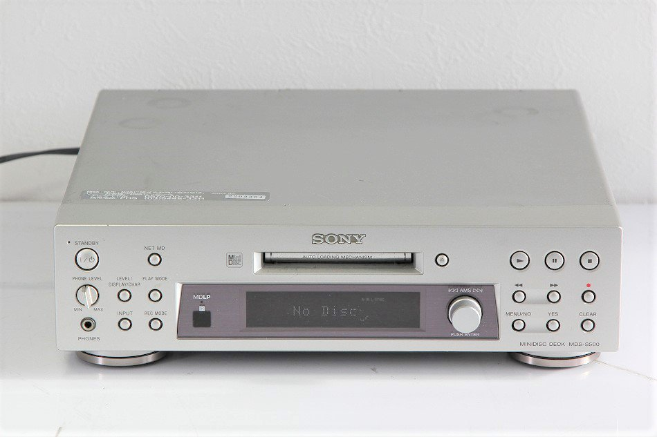 SONY MDデッキ MDS-S500【中古品】