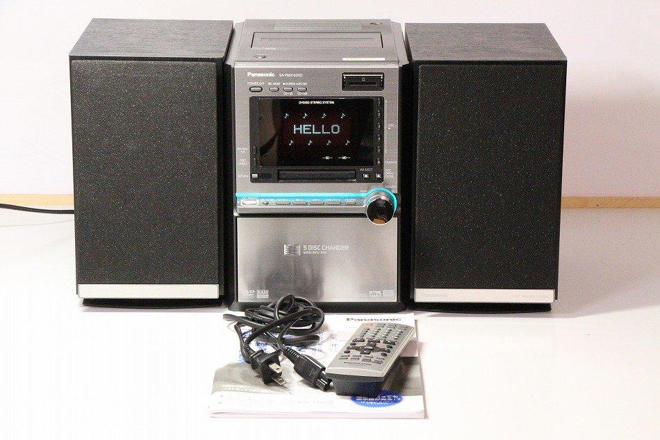 Panasonic DVD/MDテレオシステム ブラック SC-PM910DVD-K【中古品】