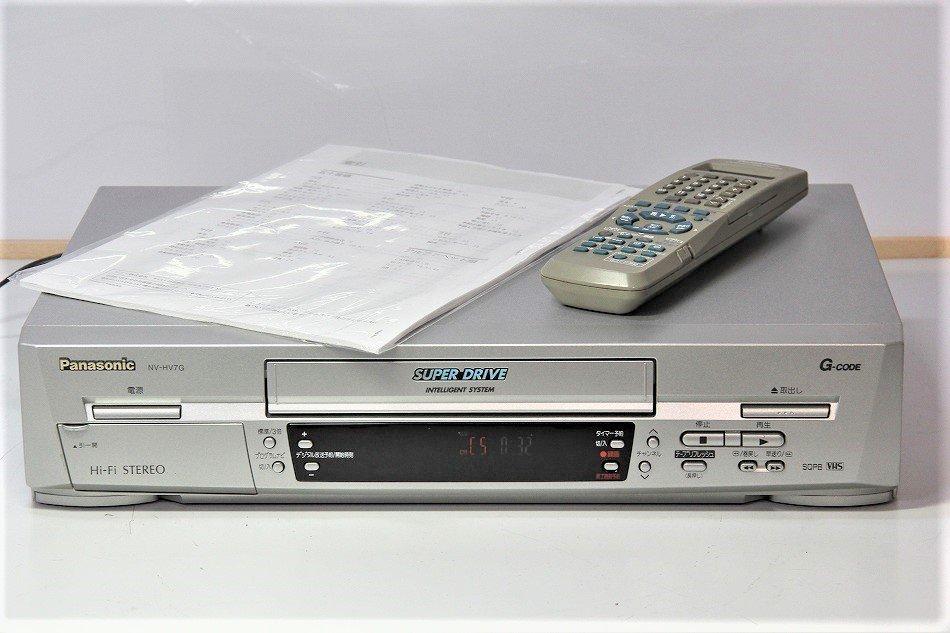 パナソニック VHSビデオデッキ NV-HV7G 【中古品】