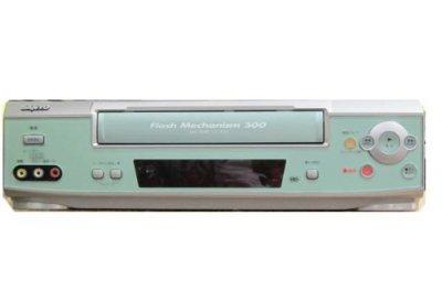三洋電機 VHSビデオデッキ サンヨー VZ-H502 リモコン付き 一週間保証 シリアルNo.40530396 22360【中古品】