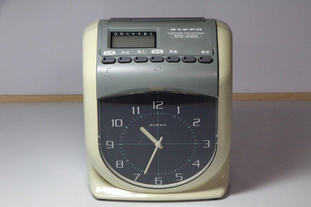タイムレコーダー6欄2色印字 NTR-2500【中古品】