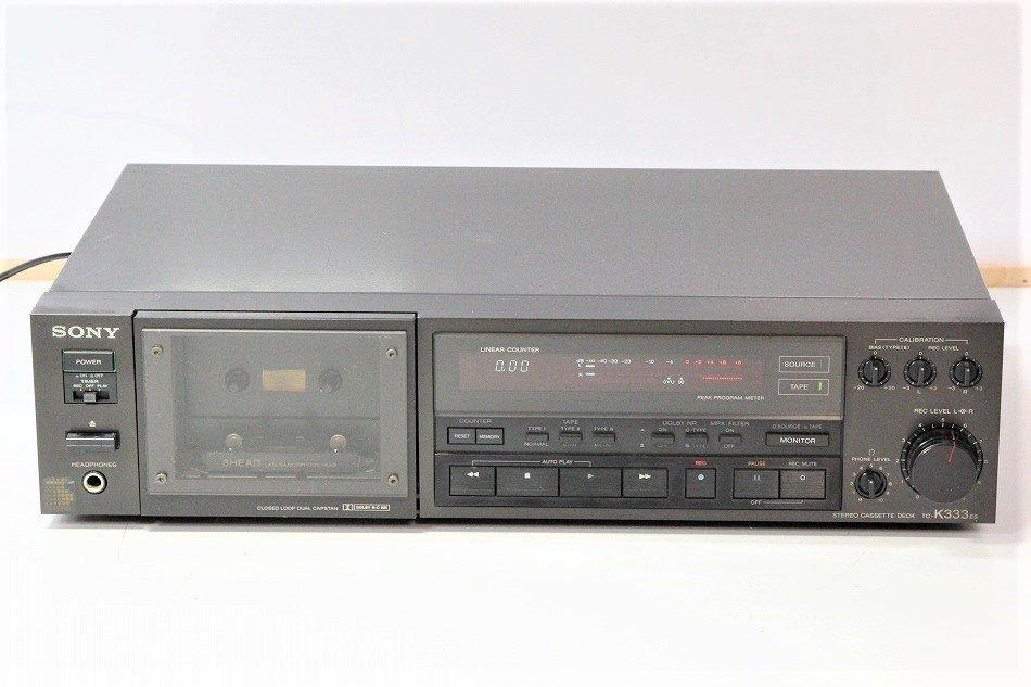 SONY TC-K333ES 3ヘッドカセットデッキ 【中古整備品】