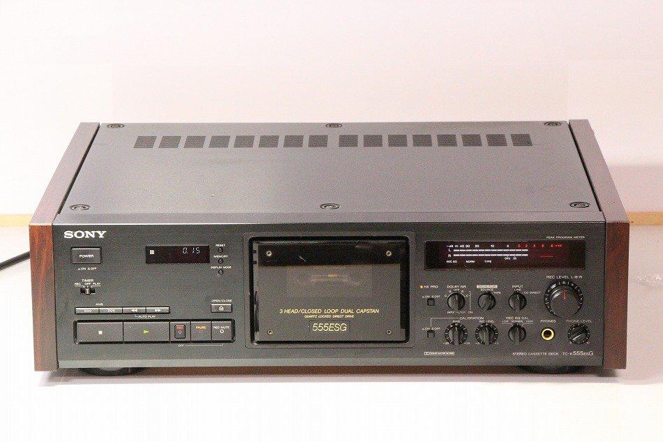 SONY 3HEAD カセットデッキ TC-K555ESG 1989年製 【中古整備品】