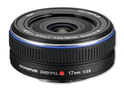 OLYMPUS パンケーキレンズ M.ZUIKO DIGITAL 17mm F2.8 ブラック【中古品】