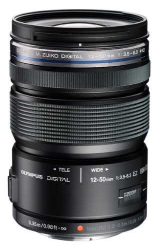 OLYMPUS ミラーレス一眼 レンズ 防塵 防滴 電動ズーム ED 12-50mm ブラック M.ZUIKO DIGITAL ED12-50mmF3.5-6.3 EZ BLK【中古品】