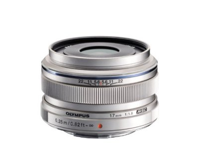 OLYMPUS 単焦点レンズ M.ZUIKO DIGITAL 17mm F1.8 シルバー【中古品】