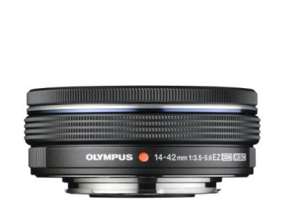 OLYMPUS 電動式パンケーキズームレンズ M.ZUIKO DIGITAL ED 14-42mm F3.5-5.6 EZ BLK【中古品】