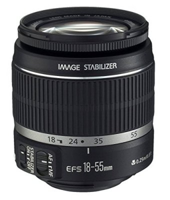 Canon 標準ズームレンズ EF-S18-55mm F3.5-5.6 IS APS-C対応【中古品】