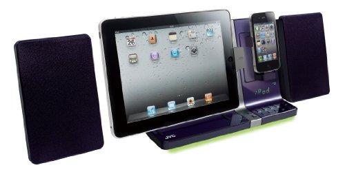 JVC UX-VJ5-V iPad/iPod/iPhoneマイクロコンポーネントシステム バイオレット【中古品】