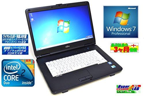 中古ノートパソコン Windows7 富士通 FMV-A8290 Core2DUO P8700(2.53GHz) 15.6型HD液晶 無線 DVDマルチ【中古…