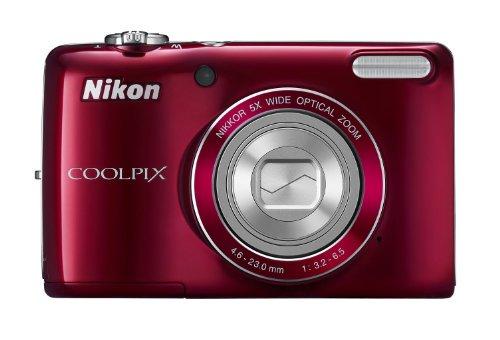 Nikon デジタルカメラ COOLPIX (クールピクス) L26 レッド L26RD【中古品】