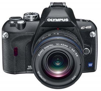 OLYMPUS デジタル一眼レフカメラ E-410 レンズキット ED14-42mm F3.5-5.6 付【中古品】
