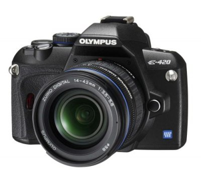 OLYMPUS デジタル一眼レフカメラ E-420 レンズキット E-420KIT【中古品】