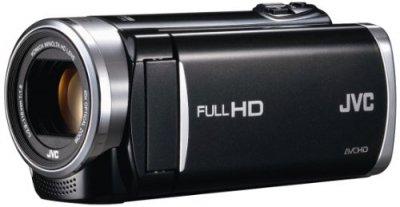 JVCKENWOOD JVC ビデオカメラ EVERIO GZ-E265 内蔵メモリー 32GB クリアブラック GZ-E265-B【中古品】