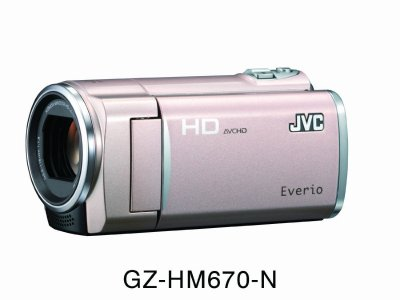 JVCケンウッド JVC 32GBフルハイビジョンメモリームービー ピンクゴールド GZ-HM670-N【中古品】
