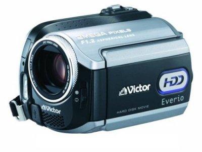 JVCケンウッド ビクター Everio エブリオ ビデオカメラ ハードディスクムービー 40GB GZ-MG275-B【中古品】