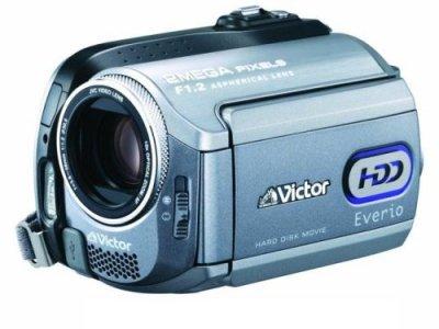 JVCケンウッド ビクター Everio エブリオ ビデオカメラ ハードディスクムービー 40GB GZ-MG275-S【中古品】