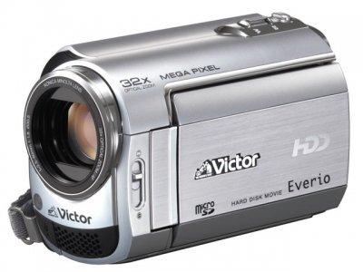 JVCケンウッド ビクター ハードディスクビデオカメラ Everio エブリオ プレシャスシルバー GZ-MG330-S【中古品】