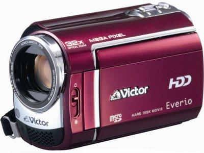 JVCケンウッド ビクター ハードディスクビデオカメラ Everio エブリオ ルージュレッド GZ-MG330-R【中古品】