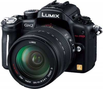Panasonic デジタル一眼カメラ ルミックス GH2 レンズキット 高倍率ズームレンズ付属 ブラック DMC-GH2H-K【中古品】