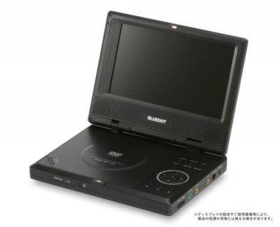 BLUEDOT 7型液晶 ポータブルDVDプレーヤー BDP-1715K ブラック(CPRM対応)【中古品】