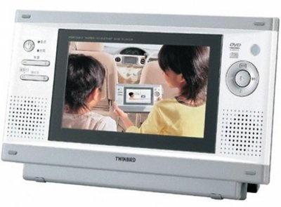TWINBIRD DVDザバディ 7型ワイド液晶 ポータブル防水DVDプレーヤー VD-J711W ホワイト【中古品】