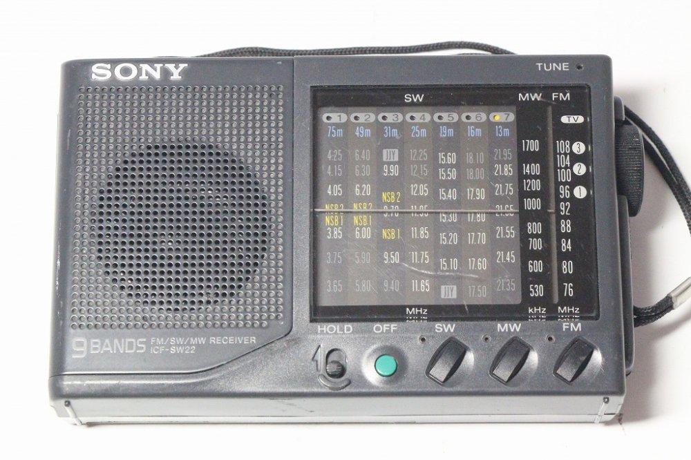 SONY ICF-SW22 FMラジオ (ブラック)【中古品】