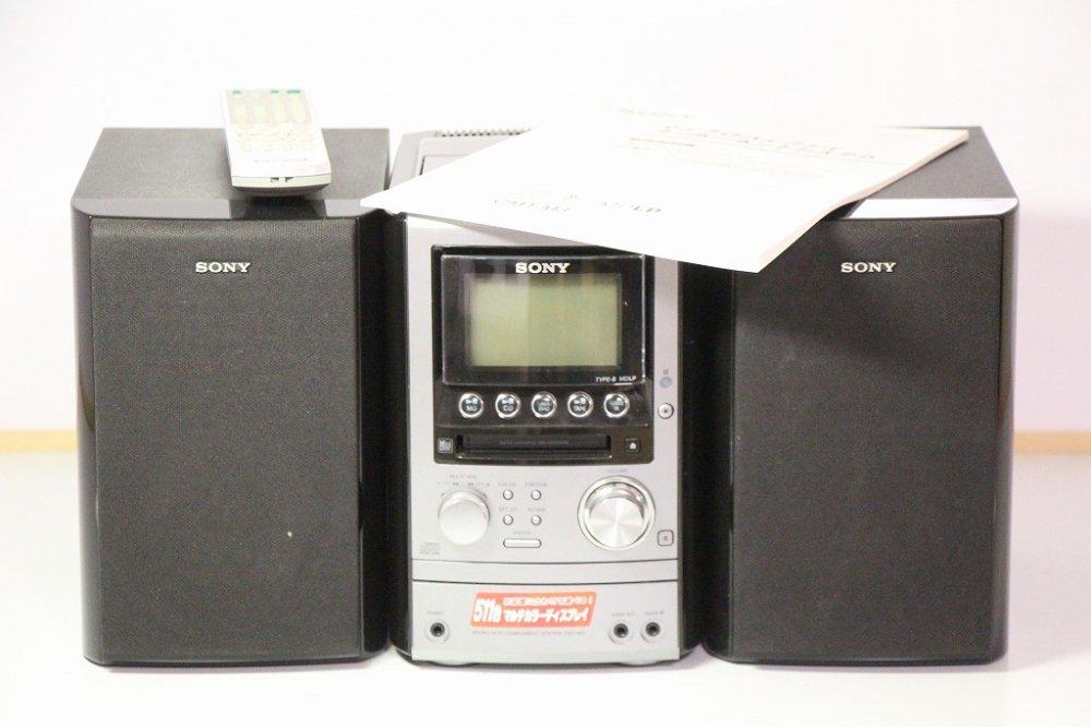 SONY MD搭載オールインワンコンポ CMT-M3 ブラック 【中古品】