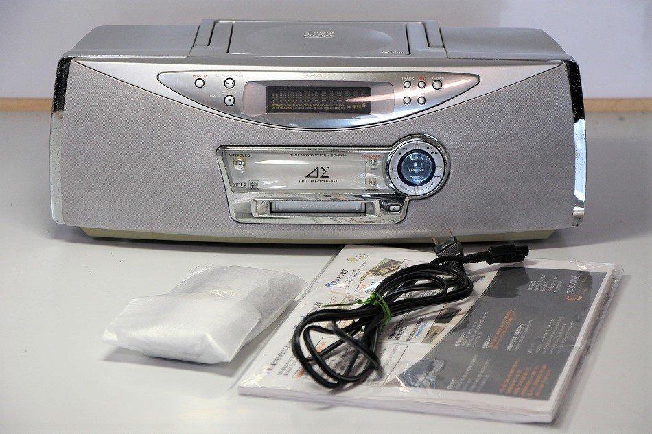 SHARP CD|MDLPデッキ搭載|SD-FX10| 1ビットデジタルアンプ内蔵ラジカセ【中古品】