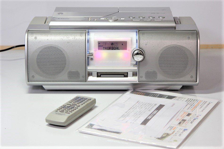 JVCケンウッド ビクター CD-MDポータブルシステム シルバー RC-L1MD-S【中古品】