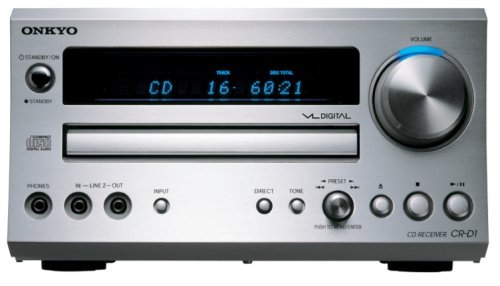 ONKYO CD/FMチューナーアンプ 60W+60W シルバー CR-D1(S)【中古品】