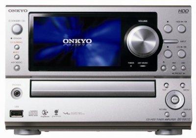 ONKYO CD/HDDチューナーアンプ シルバー BR-NX10(S)【中古品】