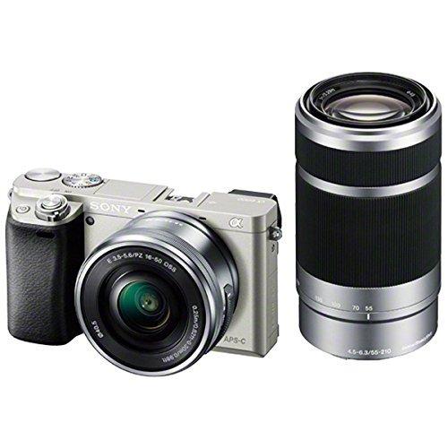 SONY ミラーレス一眼 α6000 ダブルズームレンズキット E PZ 16-50mm F3.5-5.6 OSS + E 55-210mm F【中古…
