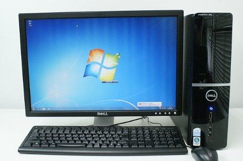 中古デスクトップパソコン 本体のみ Windows7 DELL デル Vostro 220s Pentium-2.20GHz 2GB 160GB【中古品】