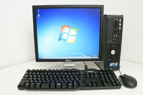 中古デスクトップパソコン 本体のみ Windows7 DELL デル OptiPlex 780 SFF Celeron E3400-2.60GHz 2GB【中古…
