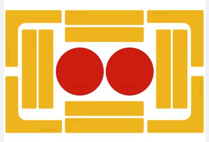 トレーニングマーカー(ゴム製)