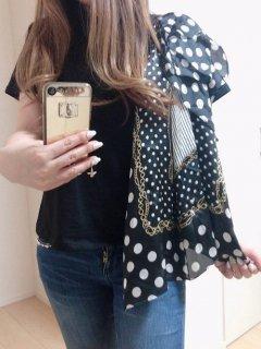 スカーフ付きTシャツ 【TOPS】