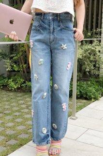 【blue fan flower】〜クサトベラeyes〜 涼しい風を運ぶ人 <チャームデニム><夏限定商品>