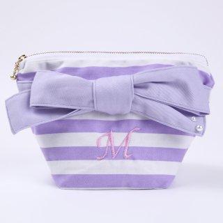 Stripe ribbon pouch  B 【Item】