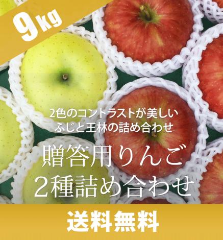 贈答用りんご 2種詰め合わせ 9kg(26~36個)