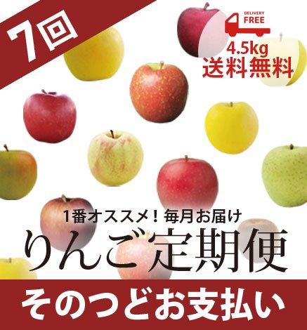 青森りんご定期便 4.5kg(7回コース/そのつどお支払い)