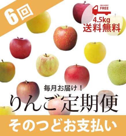 青森りんご定期便 4.5kg(毎月6回/そのつどお支払い)