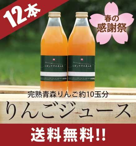 りんごジュース「しぼって そのまんま」12本入り 【春の感謝祭 特別価格】