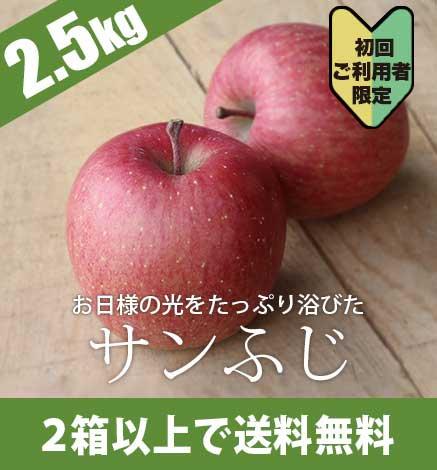 【初回ご利用者限定価格商品】青森りんご サンふじ 2.5kg(6〜10個)