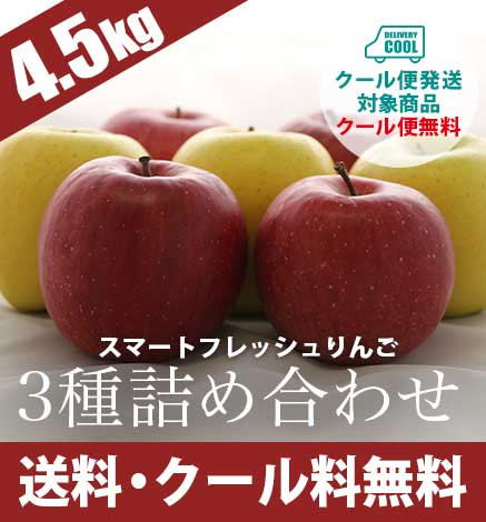 スマートフレッシュりんご 3種詰め合わせ4.5kg