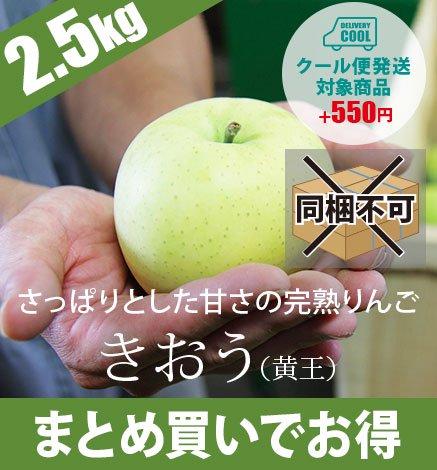 【予約:9月上旬〜中旬出荷】青森りんご きおう(黄王) 2.5kg(6〜10個)