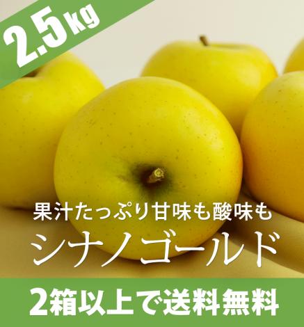 青森りんご シナノゴールド 2.5kg(6〜10個)