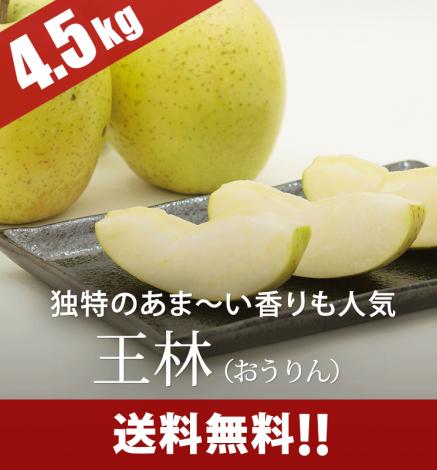 【予約】青森りんご 王林(おうりん) 4.5kg(14〜20個)